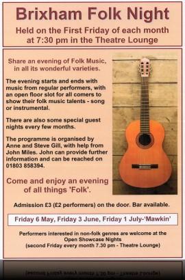 Brixham Folk Night - Friday 1 July 7.30 pm