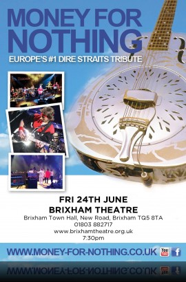 Money for Nothing - No. 1 Dire Straits Tribute - Friday 24 June 7.30 pm