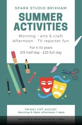 Summer Fun Activity Workshops at the Spark - Fri 21 August