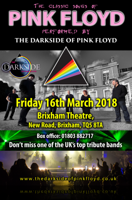 The Darkside of Pink Floyd in concert - Friday 16 March 2018 7.30 pm