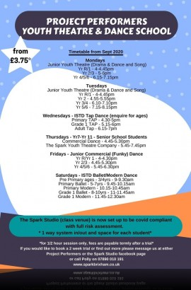 Autumn Term @ The Spark - re-starts Monday 2 November