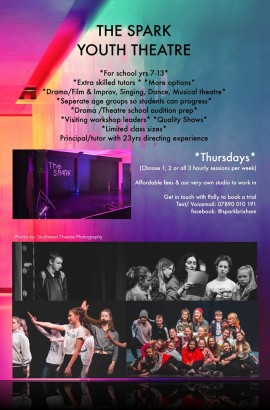 New Senior Youth Theatre Thursdays at the Spark