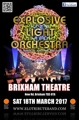 Explosive Light Orchestra in concert - POSTPONED TO SATURDAY 2 DECEMBER 2017 7.30 PM