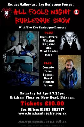 Rogues Gallery presents 'All Fools Night' - Saturday 1 April 2017 7.30 pm