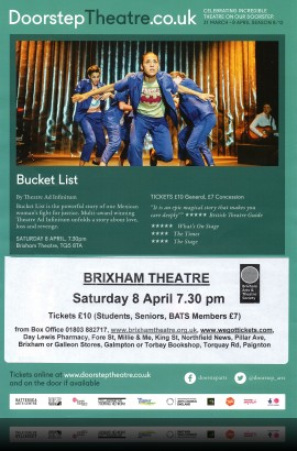 'Bucket List' by Theatre Ad Infinitum - Saturday 8 April 2017 7.30 pm