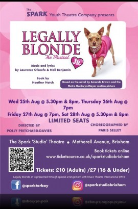 Legally Blonde JR @ The Spark Sat 28 Aug 5.30 pm - Book NOW!