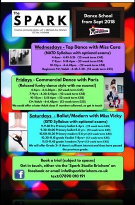 Tap Dance classes with Miss Cara - Wednesday 26 September from 4.45 pm