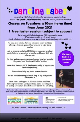 'Dancing Babes' starts Tuesday 15th June 10 am