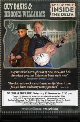 Guy Davis & Brooks Williams - Saturday 12 November 7.30 pm