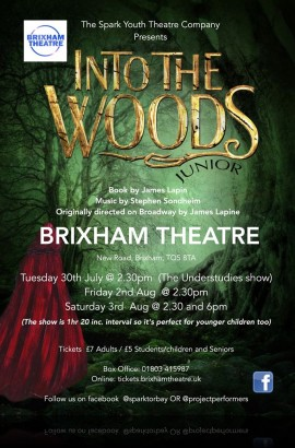 Into the Woods - Saturday 3 August 6 pm