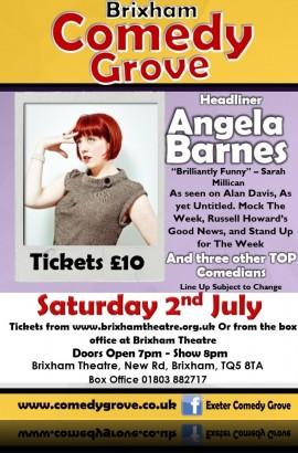 Brixham Comedy Grove - Saturday 2 July 8 pm