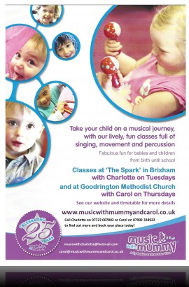 Music with Mummy and Jolly Babies at The Spark - 9.45 am Tuesday 13 November 2018