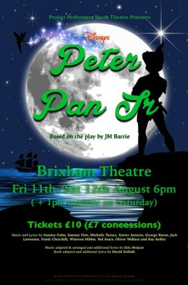 Project Performers present 'Peter Pan' - Friday 11 August 6 pm