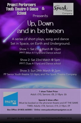 'Up, Down and In-Between' -Saturday 23 March 5 pm
