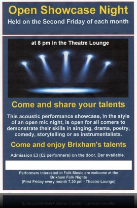 Open Showcase Night - Friday 11 August 8 pm