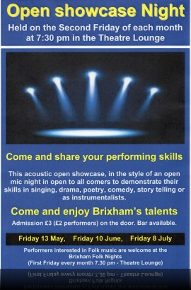 Open Showcase Night - Friday 8 July 8.00 pm