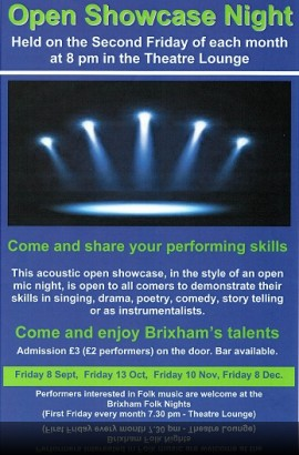 Open Showcase Night - Friday 13 October 8 pm