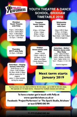 Spring Term classes at The Spark