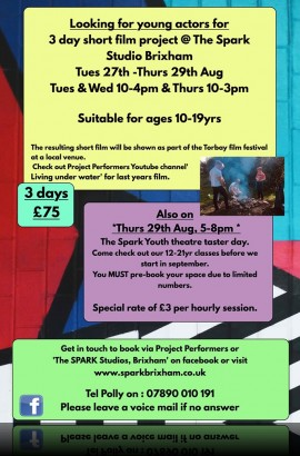 Youth Theatre/Film Project - Tuesday 27 to Thursday 29 August