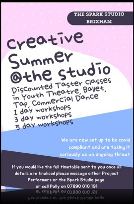 Summer Activities @ The Spark - Sign up Now!