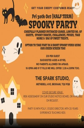 Friday 30 October - Spooky Party at The Spark