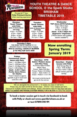 Enrol for Spring Term at The Spark January to March