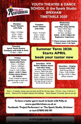 Summer Term at the Spark - Book your place early