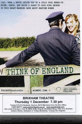 'Think of England' - Thursday 1 December 7.30 pm