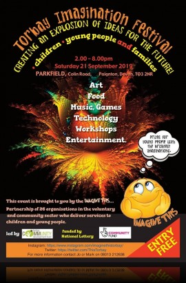'Imagine This' Festival at Parkfield, Paignton - Saturday 21 September 2 - 8 pm